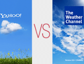 Yahoo! Weather vs. Weather Channel app