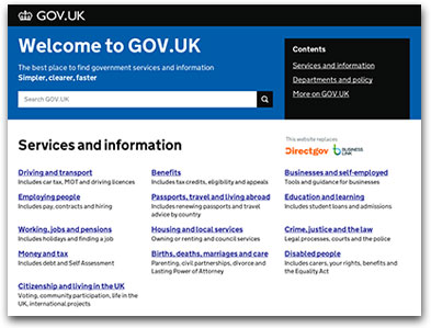 UK.GOV site
